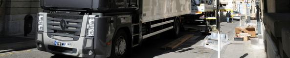 demenagement camion levage plan de la cours