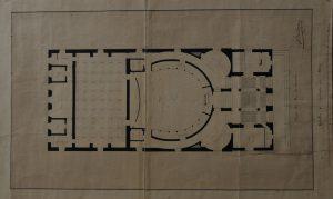 Plan du théâtre, le projet Bourdon, rdc, 1837 (ACA, M68bis)