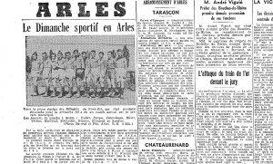 Article du Petit Marseillais, mardi 8 octobre 1940 (Arch. Arles,H960)