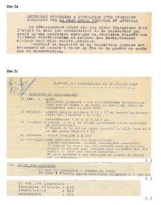 Compte rendu du bombardement du 17 juillet 1944 (Arch. Arles, H1025)