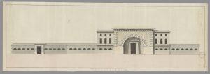 Couvent des Récollets XIX °s 1Fi 271 ( DD 42 F°309) projet de façade pour sa transformation en caserne (non réalisé).