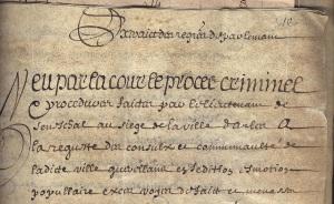 Arrêt d'exécution du Parlement de Provence de la sentence de mort rendue par le lieutenant du Sénéchal au siège d'Arles 25 Mai 1637, Archives communales d'Arles, FF-2, f°310r°