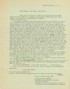 Lettre de Jean Benoit Frèches lue lors de la manifestation du 13 mai 1968 sur la place de la République à Arles (Archives Communales d'Arles, 32S291)