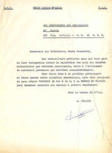 Les organisations syndicales dénoncent l'augmentation des prix liée aux pénuries (Archives Communales d'Arles, 32S291).