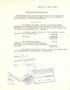 Procès-Verbal du comité de coordination du 4 juin 1968 (Archives Communales d'Arles, 32S291)