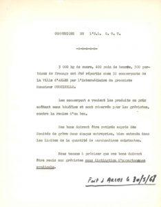 Communiqué de l'U.L C.G.T du 30 mai 1968 (Archives Communales d'Arles, 32S291)