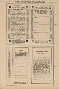 Modèle d'une carte individuelle d'alimentation (Arch. Arles, F138)