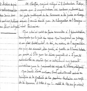 Fixation du prix de remboursement des repas, 20 déc. 1941 (Arch. Arles, D54, p. 1)
