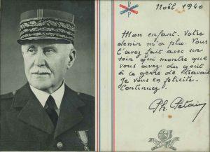 Remerciements du maréchal Pétain aux enfants qui lui ont adressé des dessins pour Noël 1940 (Arch. Arles, 28S)