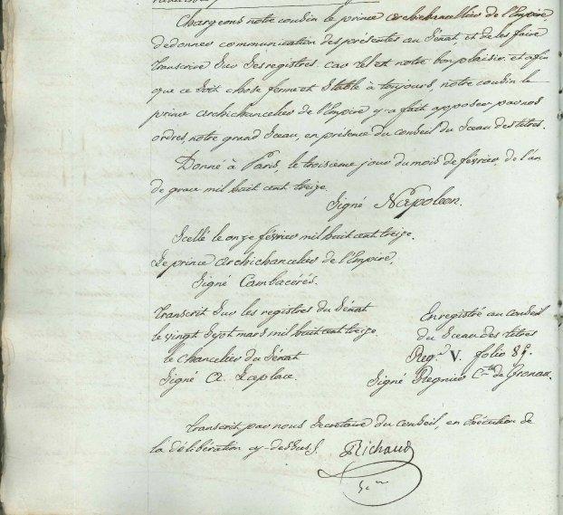 Document 6:Bas de page de la délibération du conseil municipal de la ville d'Arles du 8 mai 1813