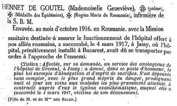 Tableau d'honneur des morts pour la France: guerre de 1914-1918  ( p 439-440) Édition La Fare 1921.