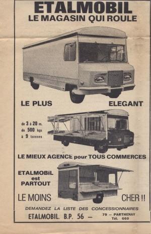 """Coupure de presse sur """"Etalmobil"""", le magasin qui roule et les camions magasins, 1968 – A.C. Arles 86W1"""