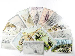 Cartes postales La baïonnette et le crayon