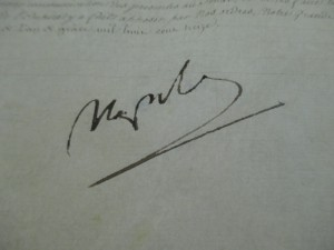 Document 3 : la signature de Napoléon 1er.
