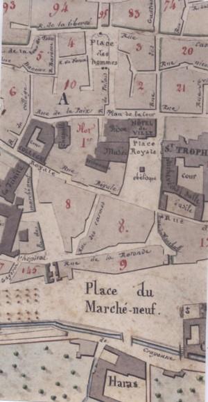 Détail du Plan général de la ville et de son faubourg de Guillaume Véran, 1842 – A.C. Arles - 1Fi33